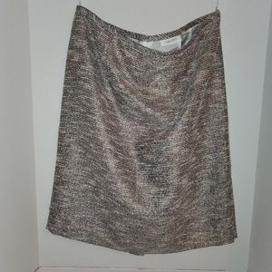 Calvin Klein  skirt nwot a bit of metallic
